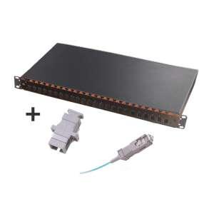 Fibre optique, Tiroirs optiques multimodes, Connectiques SC, TOM 1U 24 SC équipé raccords et pigtails 62.5/125 SC