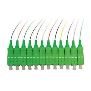 Fibre optique, Connectique brassage, Pigtails monomodes, 12 pigtails couleurs g657a2 sc-apc