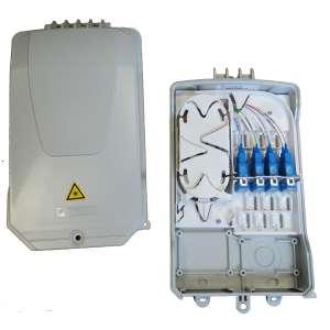 Fibre optique, Boîtiers, Boîtiers optiques intérieurs, Boîtier BUDI-2S-T équipé raccords et pigtails