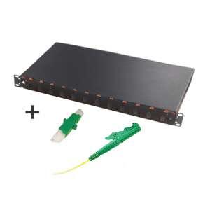 Fibre optique, Tiroirs optiques monomodes, Connectiques E2000, TOM 1U 12 SC équipé raccords et pigtails 9/125 E2000-APC