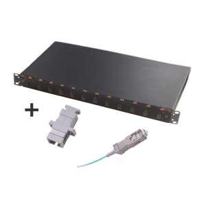 Fibre optique, Tiroirs optiques multimodes, Connectiques SC, TOM 1U 12 SC équipé raccords et pigtails 62,5/125 SC