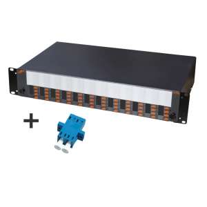 Fibre optique, Tiroirs optiques monomodes, Connectiques LC, TOM 2U 48 SC équipé raccords LC-PC duplex