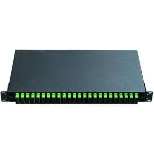 Fibre optique, Tiroirs optiques sm, Connectique sc, TOM 1U 24 SC-DX with adapters and pigtails SC-APC dx