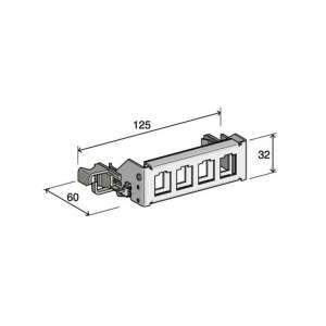 Cuivre, Accessoires, Autres accessoires cuivre, Support 4 connecteurs RJ45 K