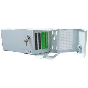 Fibre optique, Coffrets optiques, Coffrets optiques monomodes, COS S/P équipé raccords et pigtails SC-APC