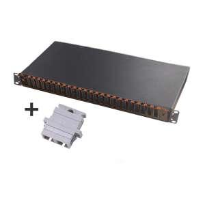 Fibre optique, Tiroirs optiques multimodes, Connectiques SC, TOM 1U 24 SC-DX équipé raccords SC duplex