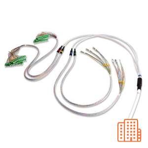 Fibre optique, Câblages, Réseaux optiques FTTH, Câble colonne montante M4 G657A2 préconnectorisées
