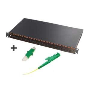 Fibre optique, Tiroirs optiques sm, Connectique e2000, TOM 1U 24 SC with adapters and pigtails E2000-APC