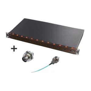 Fibre optique, Tiroirs optiques multimodes, Connectiques FC, TOM 1U 12 ST équipé raccords et pigtails 50/125 FC
