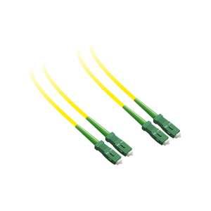 Fibre optique, Connectique brassage, Jarretières monomodes, Jarret 9/125 dx-zip sc-apc/sc-apc