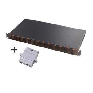 Fibre optique, Tiroirs optiques multimodes, Connectiques SC, TOM 1U 12 SC-DX équipé raccords SC duplex