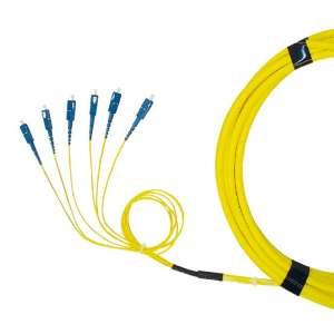 Fibre optique, Connectiques brassage, Câbles préco. monomodes, Câble break-Out 9/125 - SC-PC