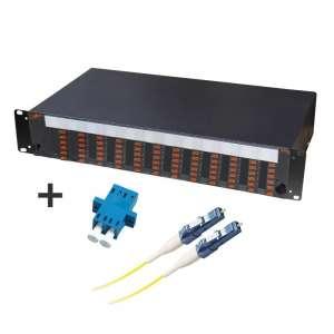 Fibre optique, Tiroirs optiques monomodes, Connectiques LC, TOM 2U 72 SC équipé raccords et pigtails LC-PC duplex