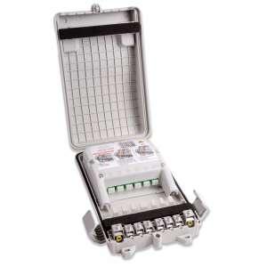 Fibre optique, Boîtiers, Boîtiers optiques intérieurs/extérieurs, PBO aérien Préco 6 SC-APC