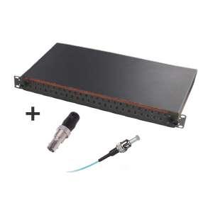 Fibre optique, Tiroirs optiques multimodes, Connectiques ST, TOM 1U 48 ST équipé raccords et pigtails 50/125 ST