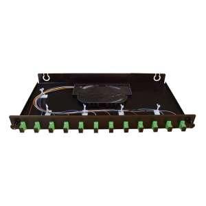 Fibre optique, Tiroirs optiques monomodes, Connectiques SC, TOM 1U 12 SC équipé raccords et pigtails SC-APC