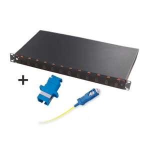 Fibre optique, Tiroirs optiques monomodes, Connectiques SC, TOM 1U 12 SC équipé raccords et pigtails SC-UPC