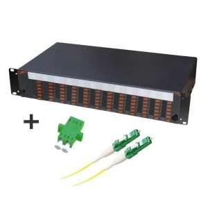 Fibre optique, Tiroirs optiques monomodes, Connectiques LC, TOM 2U 72 SC équipé raccords et pigtails LC-APC duplex