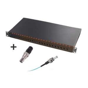 Fibre optique, Tiroirs optiques multimodes, Connectiques ST, TOM 1U 24 ST équipé raccords et pigtails 62.5/125 ST