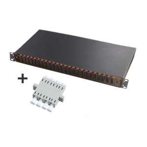 Fibre optique, Tiroirs optiques multimodes, Connectiques LC, TOM 1U 24 SC-DX équipé raccords LC quadruplex