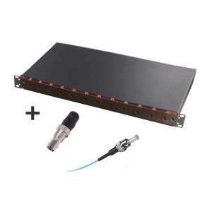 Fibre optique, Tiroirs optiques mm, Connectique st, Tom 1u 12 st + r&p 62,5/125 st