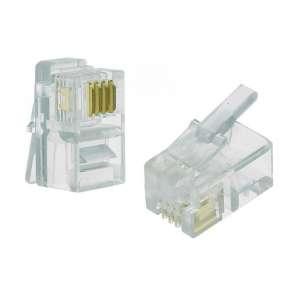 Cuivre, Câblages, Réseaux cuivre téléphonie privée intérieure, Plug RJ11 non blindé