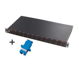 Fibre optique, Tiroirs optiques monomodes, Connectiques SC, TOM 1U 12 SC équipé raccords SC-UPC