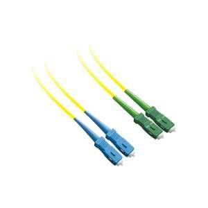 Fibre optique, Connectique brassage, Jarretières monomodes, Jarret 9/125 dx-zip sc-pc/sc-apc