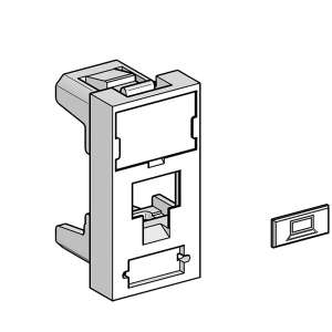 Cuivre, Solutions vdi rj45, Panneau 19'', Face av 22.5 x 45 - 1 port volition