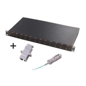 Fibre optique, Tiroirs optiques multimodes, Connectiques SC, TOM 1U 12 SC équipé raccords et pigtails 50/125 SC