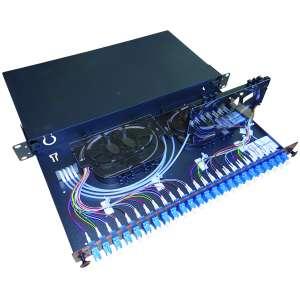 Fibre optique, Tiroirs optiques monomodes, Connectiques LC, TOM 1U 24 SC équipé raccords LC-UPC duplex