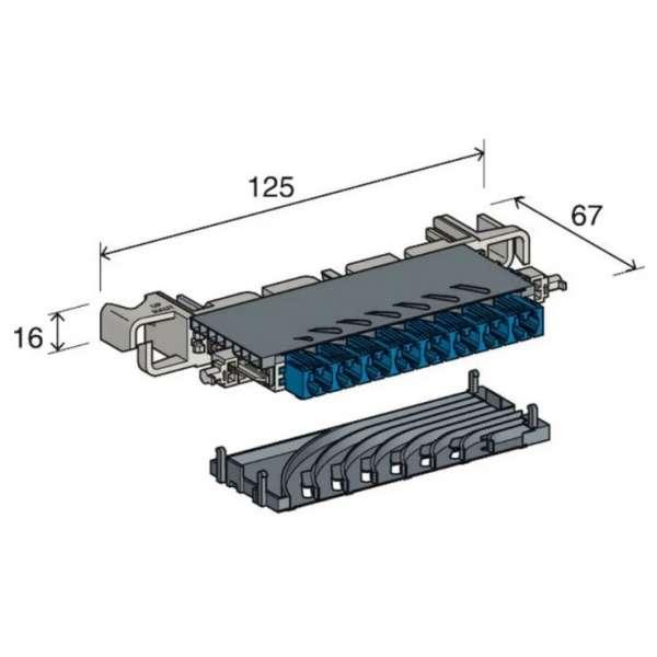 Cuivre, Boîtiers modules, Modules de raccordement, Module RCP catégorie 6 SFTP à coupure 8P