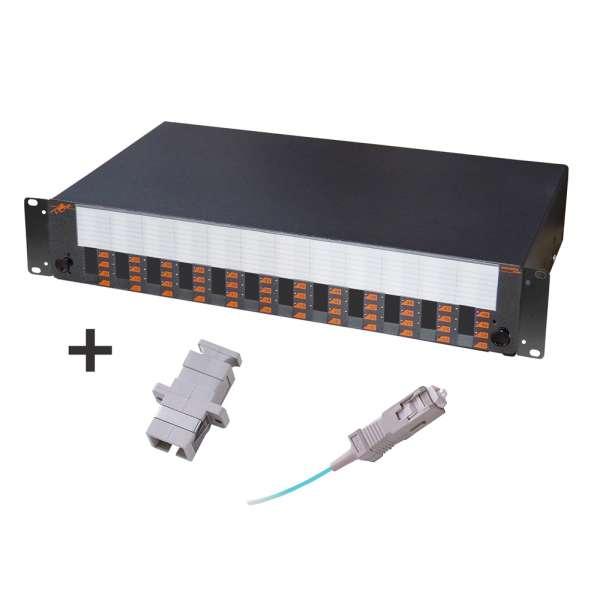 Fibre optique, Tiroirs optiques multimodes, Connectiques SC, TOM 2U 48 SC équipé raccords et pigtails 50/125 SC