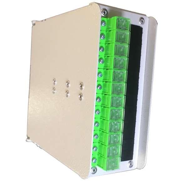 Fibre optique, Coffrets optiques, Coffrets optiques monomodes, COD 24 SC équipé raccords et pigtails SC-APC