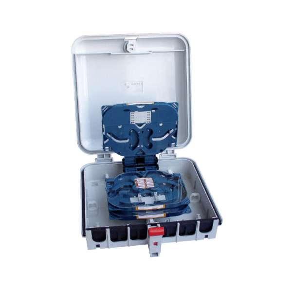 Fibre optique, Boîtiers, Boîtiers optiques intérieurs/extérieurs, Point de branchement PBO Taille 1 équipé 3 cassettes