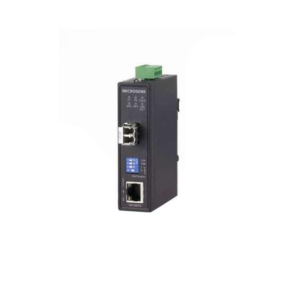 Matériels actifs, Actifs fibre optique, Solutions industrielles, Convertisseur Ethernet industriel Gigabit Entry Line avec logement SFP