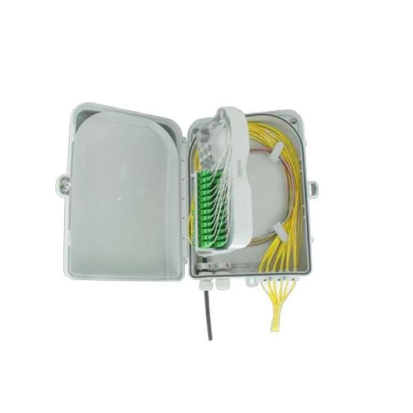 Fibre optique, Boîtiers, Boitier optique intérieur/extérieur, Boitier mural +clé +platine raccord