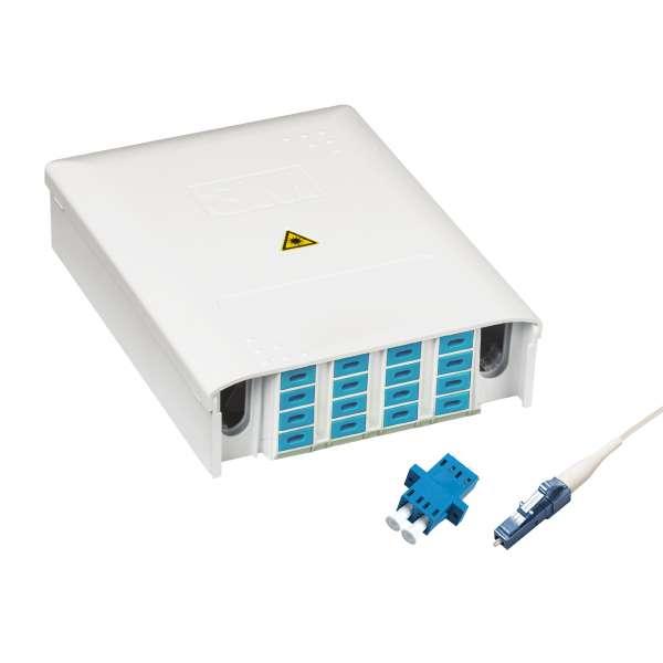 Fibre optique, Boîtiers, Boîtiers optiques intérieurs, Boîtier PBPO 9/125 G657 équipé raccords et pigtails LC-PC