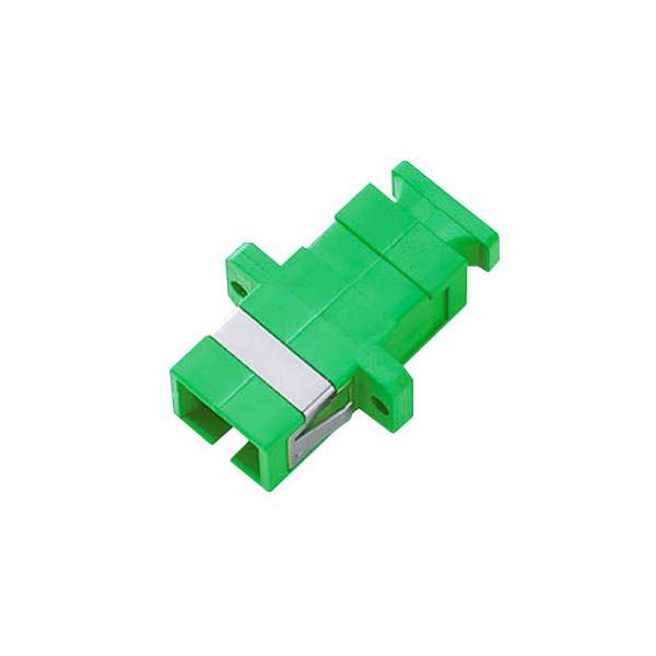 Fibre optique, Connectiques brassage, Raccords optiques monomodes, Raccord monomode simplex SC-APC/SC-APC