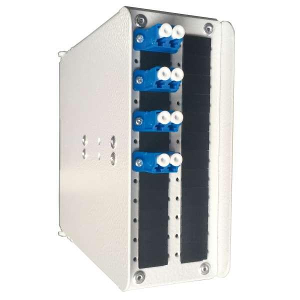 Fibre optique, Coffrets optiques, Coffrets optiques monomodes, COD 24 SC équipé raccords et pigtails LC-UPC