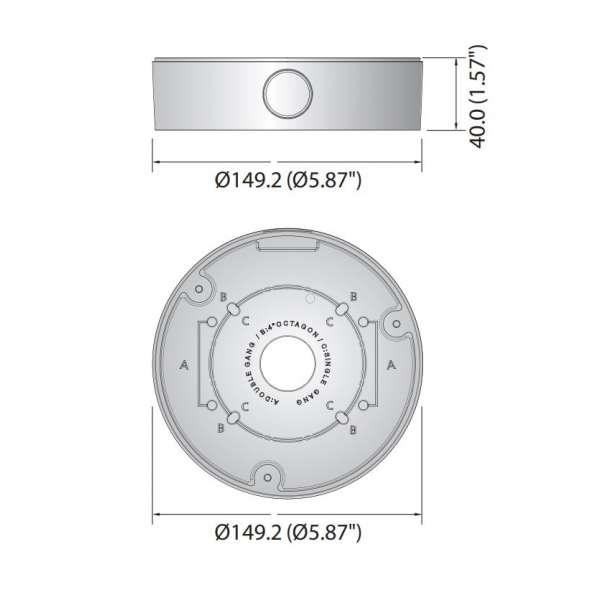 Sécurité, Vidéoprotection, Accessoires, Boîte de jonction - Samsung