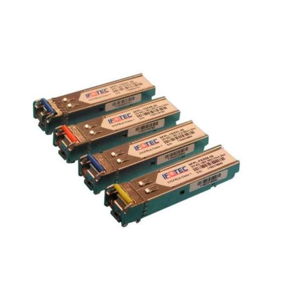 Matériels actifs, Actifs fibre optique, SFP transceivers, Interface SFP Gigabit 1000 Base LX SM LC duplex