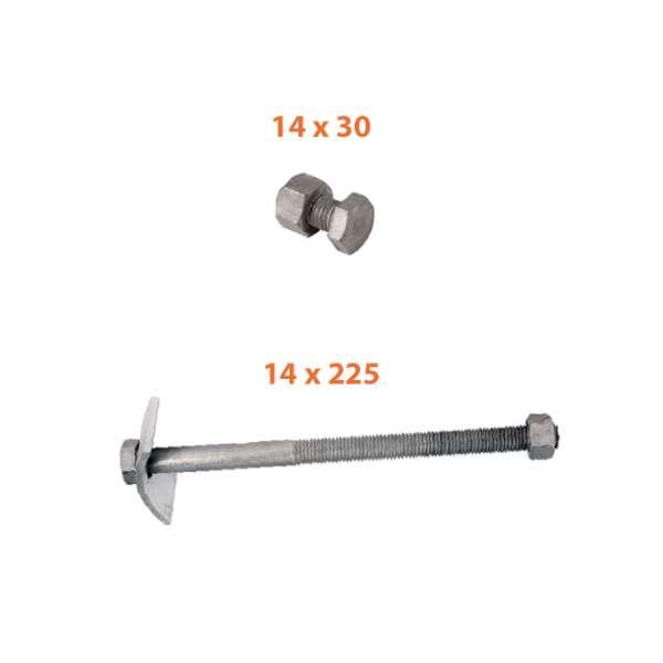 Fibre optique, Accessoires, Accessoires de fixation de câbles, Boulons et écrous M14
