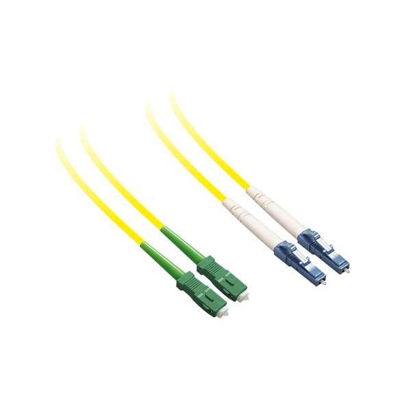 Fibre optique, Connectiques brassage, Jarretières monomodes, Jarretière 9/125 duplex-zip SC-APC/LC-PC