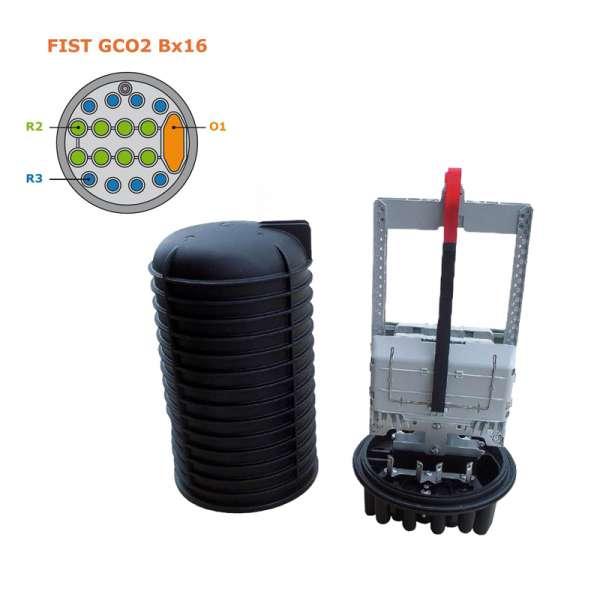 Fibre optique, BPE COMMSCOPE, FIST GCO2 Bxx, Boîtier FIST GCO2 Bx16