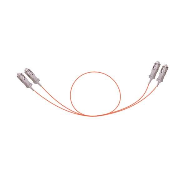 Fibre optique, Connectiques brassage, Jarretières multimodes, Jarretière 50/125 OM2 duplex TWIN renforcée SCPC/SCPC