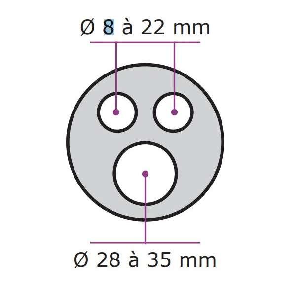 Fibre optique, BPE COMMSCOPE, Accessoires, Kit d'étanchéité à gel - 3 entrées